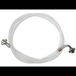 """Bierslang nylon 8,5 mm met 3/8"""" flare aansluiting"""
