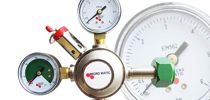 Alle voorkomende tapmaterialen zoals CO2 meters